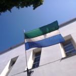 Liivi lipp Liivi rahvamajal