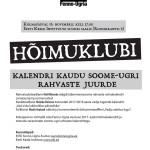 Fenno-Ugria hõimuklubi alustab sügishooaega 16. novembril