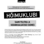 Fenno-Ugria hõimuklubis 29.11 saami poliitika ja kodanikualgatused Soomes