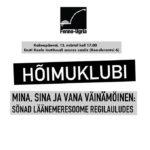 HÕIMUKLUBI: Mina, sina ja vana Väinämöinen. 13.03.2019