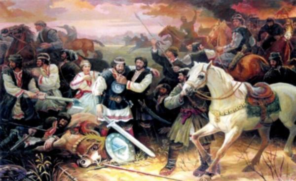 maal, mis kujutab lahingustseeni